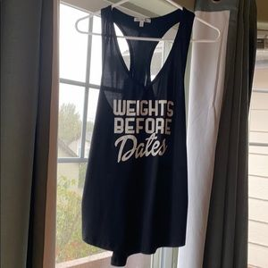 Weights Before Dates Workout Tank Top
